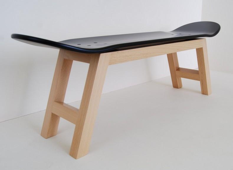 mobilier modern din placa de skateboard