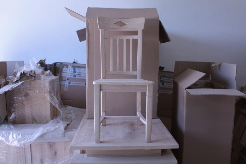 scaun din stejar model Dijon