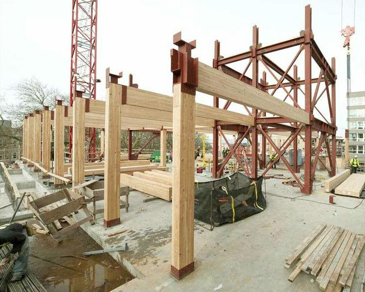 cladire pe structura din lemn