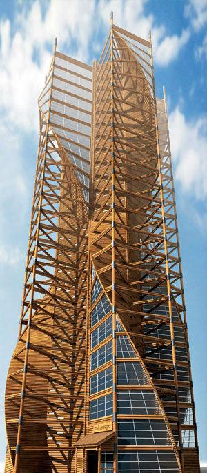 cea mai inalta cladire din lume din lemn