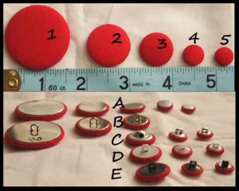 cusaturi si butoni in rosu