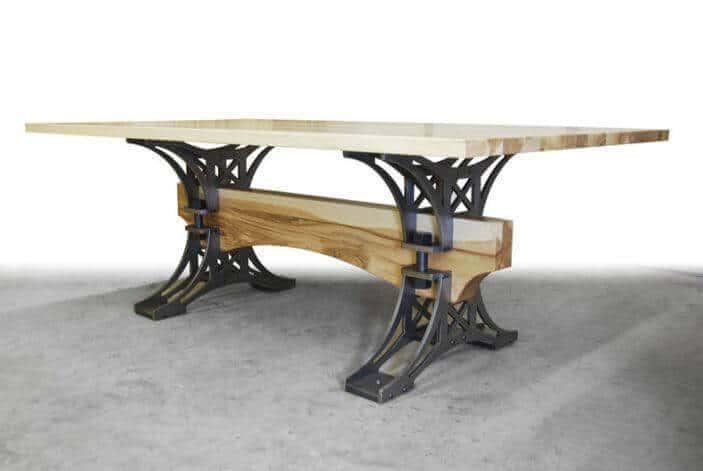 Masa cu blat din lemn masiv