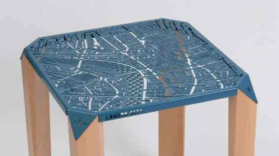 Hasan Agar Map on Table