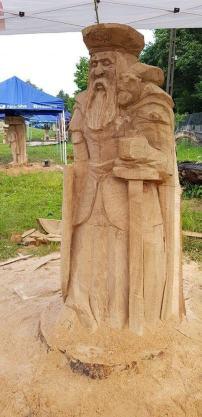 sculptura in lemn cu drujba Cerna 2018