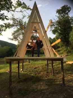 casuta din lemn pentru copii