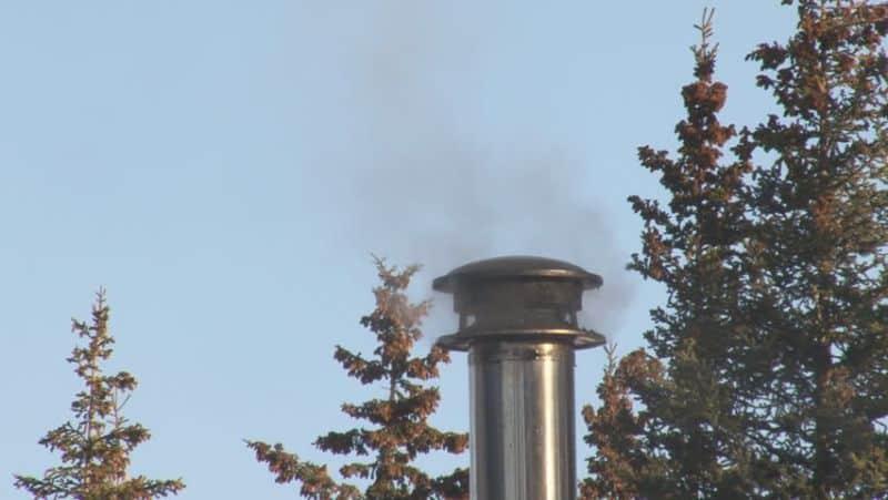 fumul lemnului ars