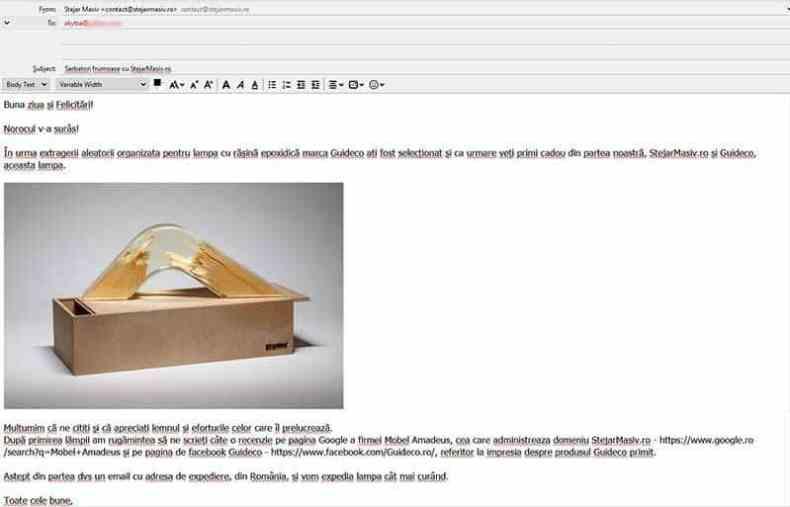 cadou de Mos Nicolae lampa cu rasina epoxidica marca Guideco