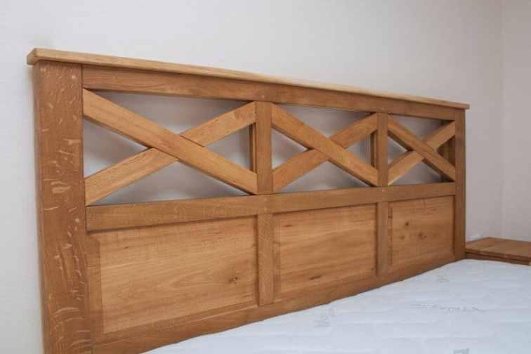 pat de dormitor matrimonial din stejar masiv - paturi din lemn masiv