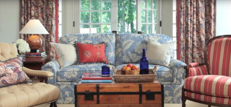 Calico eclectic style with Classic Blue