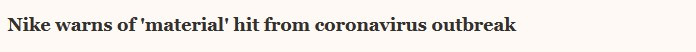 Nike - coronavirus
