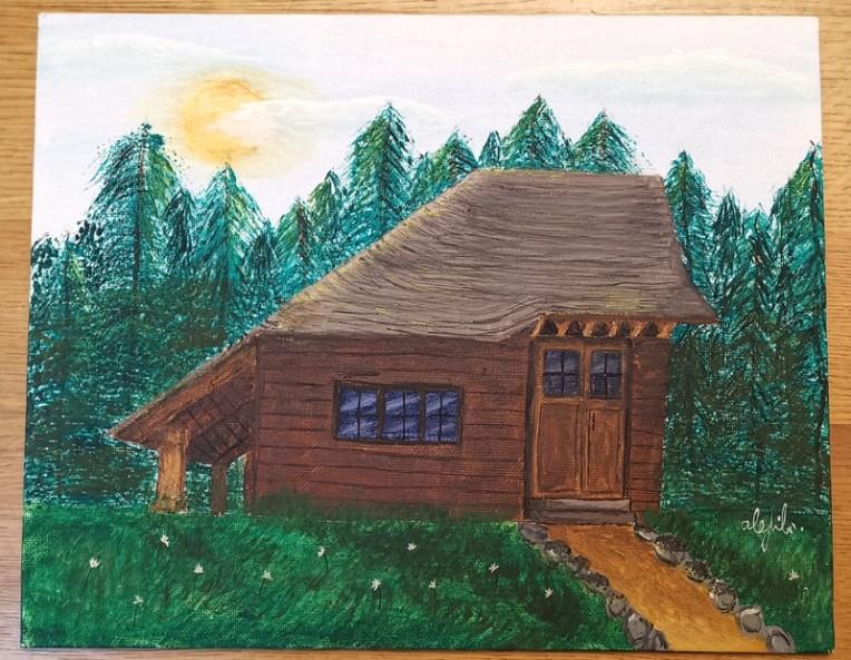 pictura Alexandra Filimon o poveste despre cabana din lemn