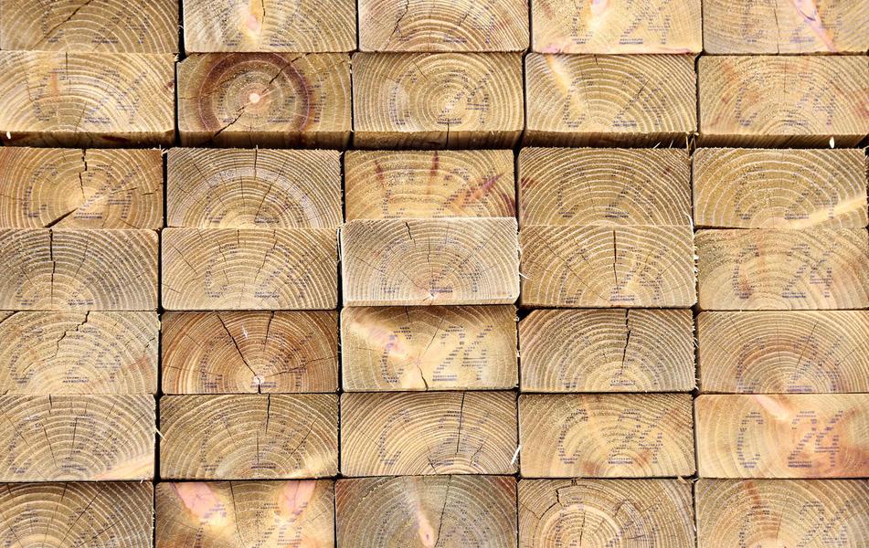 lemn marcat