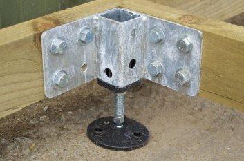 suport metalic pentru baza din lemn