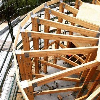 structura din lemn circulara