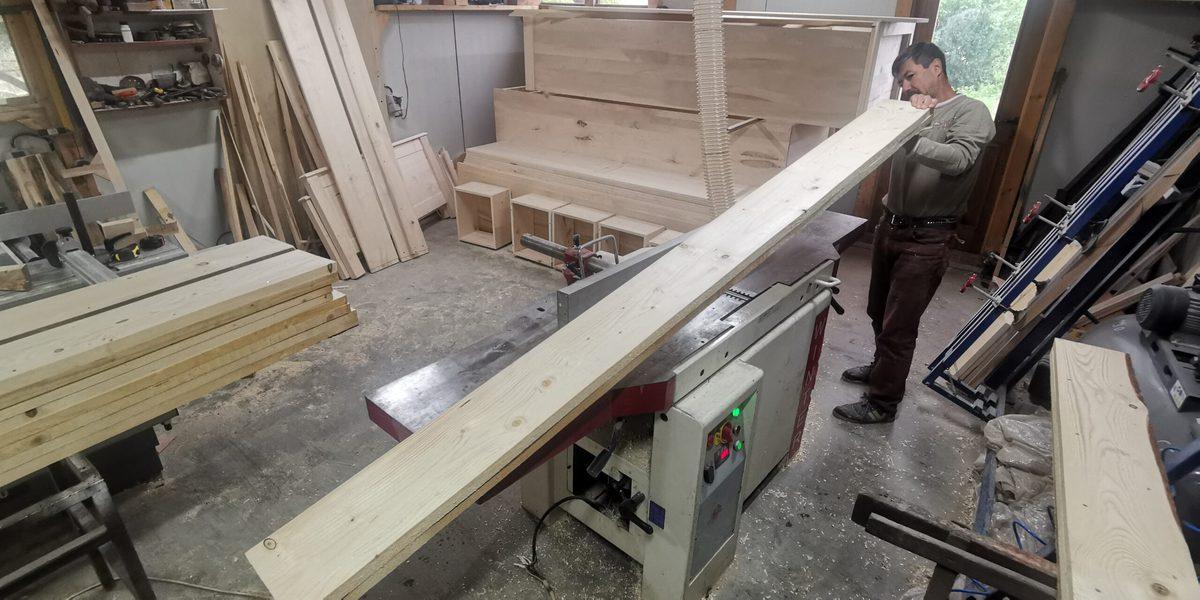 planșeu din lemn