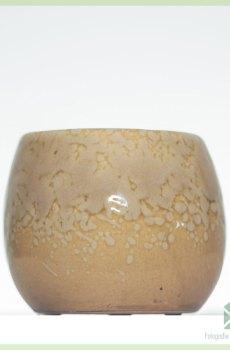 Cream coffee plantenpot bloempot sierpot 6 cm