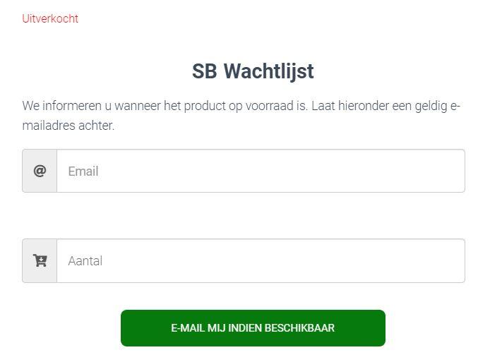 Screenshot wachtlijst waitlist Stekjesbrief