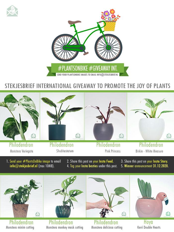 PlantsonBike GiveAway 2020