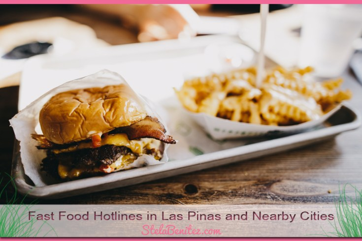 Fast Food Hotlines in Las Pinas and Nearby Cities