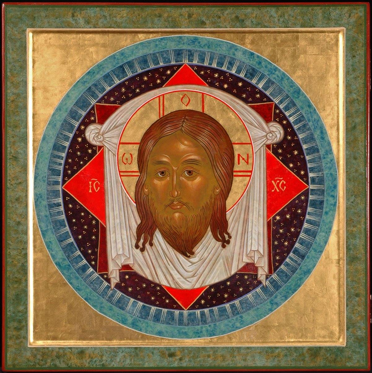 Icon of the Holy Veil, 2015, by the hand of Faye Drobnic