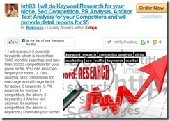 fiverr outsource keyword research