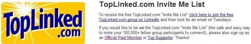 linkedin - an invite me list from open networker group