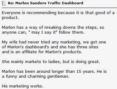 marlon sanders trafficdashboardreview
