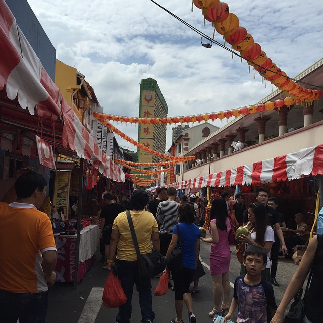 I braved Chinatown -- alone! -- cos I was in the 'hood. Crazy crowded! Guess what I bought? #chinatown #cny2015 #dongdongdongqiang