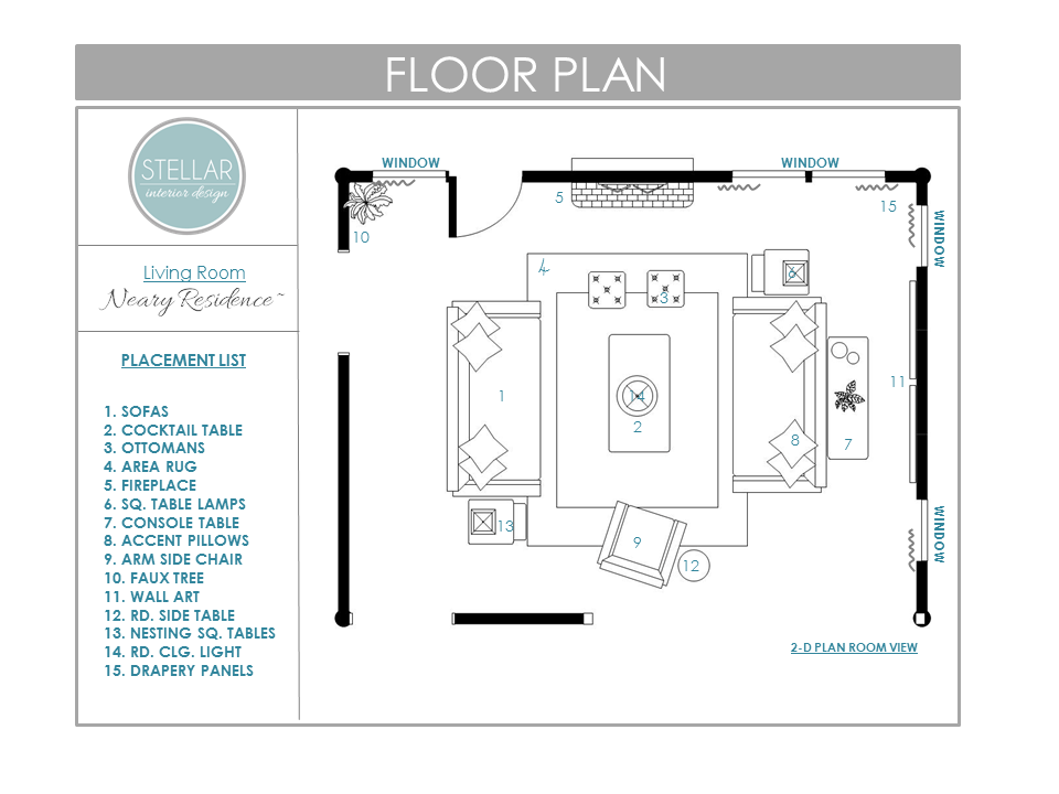 Or, are you ready to begin an extensive construction project to build the house of your dreams? Floor Plans for Living Room: E-Design Client - Stellar ...