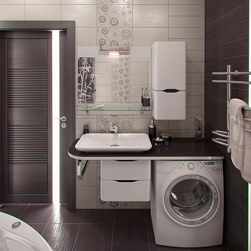 Small Bathroom Design - Around the Block Blog - Upper West ... on Small Space Small Bathroom Ideas With Washing Machine id=32106