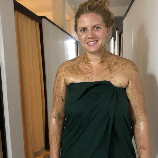 Nach der vierhändigen 'Powdermassage'