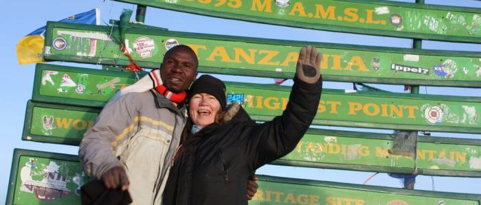 Jacob and Helena at Uhuru Peak in 2013
