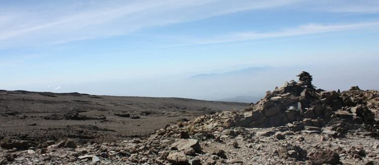 view at Machame route
