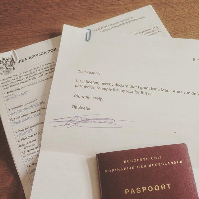 Eerste Visumaanvragen De Deur Uit: Russia Here We Come! (Hopelijk…)     Thuis, Budel
