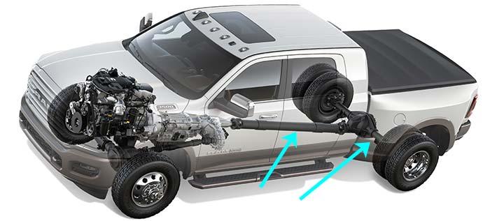 2021 Ram 2500 Power Wagon axles