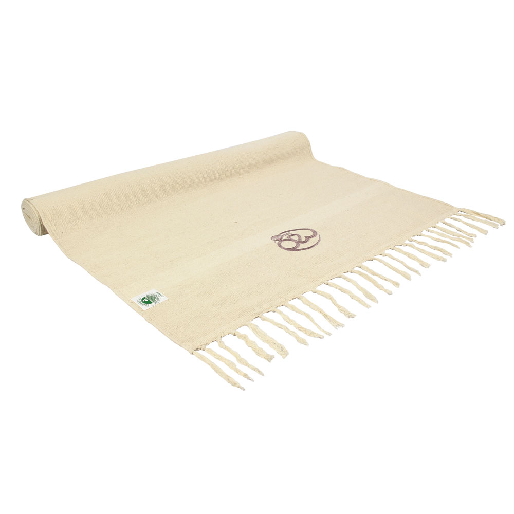 tapis de yoga en coton biologique naturel