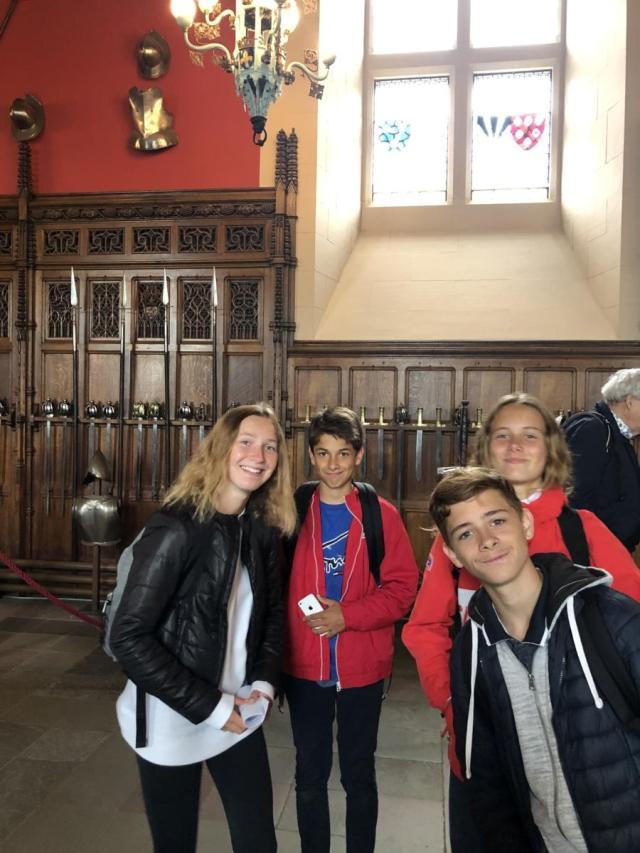 Visite du château d'Edimbourg :
