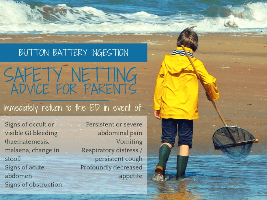 BUTTON BATTERY INGESTION