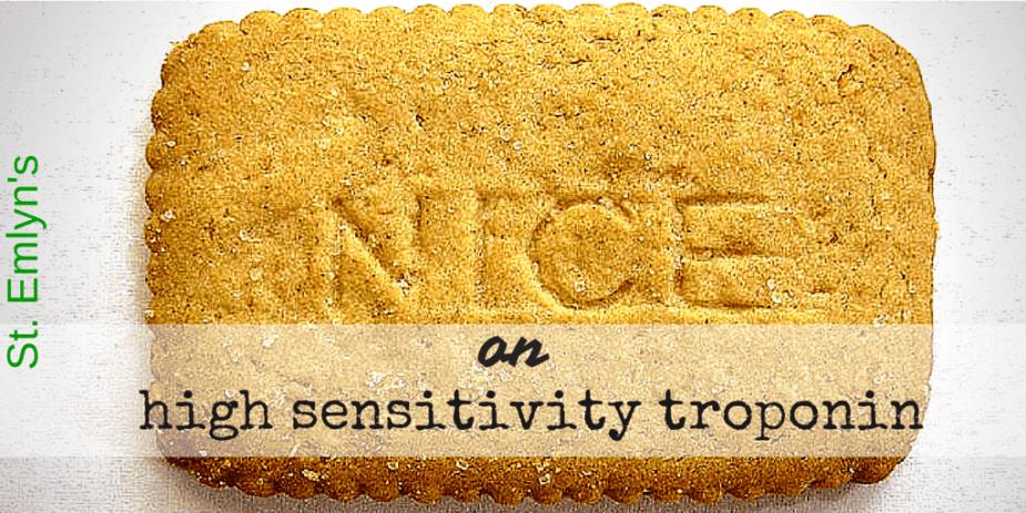 NICE high sensitivity troponin