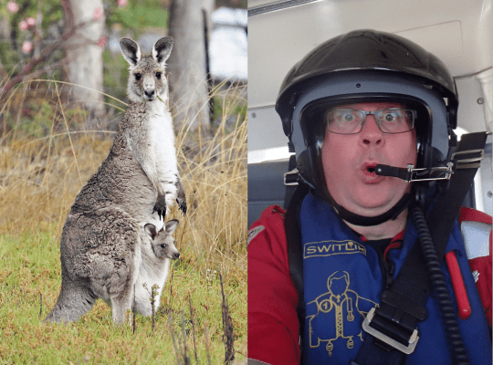 Tim Leeuwenberg from Kangaroo Island, SA. He's the one on the right.