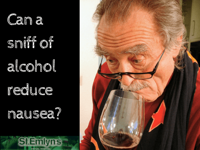 Sniffing alcohol to reduce Nausea