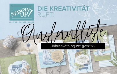 Stampin'Up! Auslaufliste 2019/2020