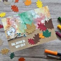 Herbstliche Grüße @Kreativmesse Wien - Tombow & Gerda Steiner
