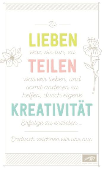 Stampin Up Leitspruch