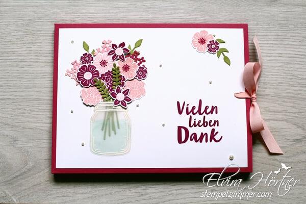 Blüten des Augenblicks-Merci Ziehverpackung-Stampin up
