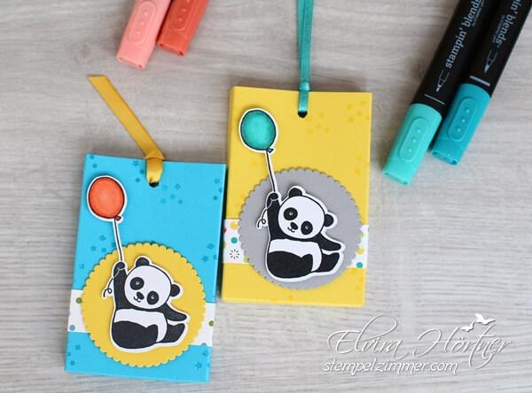 Party Pandas-Stampin Up-Verpackung-Gummibärchen