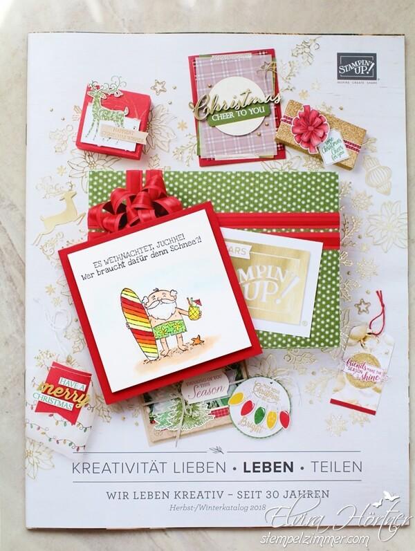 Herbst-Winter-Katalog-2018-Stampin Up-Heiter bis Weihnachtlich-Der Weihnachtsmann mit dem Surfbrett-Stempelzimmer-Elvira Hörtner