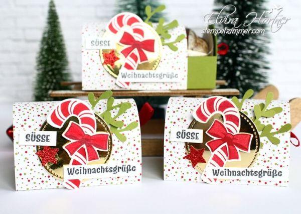 Lebkuckenverpackung-zuckersuesse Weihnachten-Zuckerstangen-Goodies-Stampin Up-Stempelzimmer