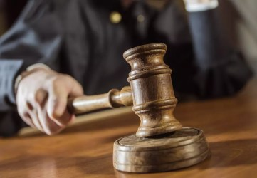 Judge with a gavel