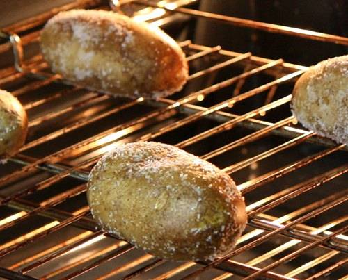 Image result for Potatoes baking in oven